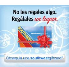 Regala un viaje con una tarjeta southwest®giftcard. Obtén una ya
